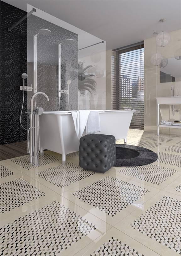 carrelage grand format effet marbre design noir ou blanc jacou e26 vente de carrelage. Black Bedroom Furniture Sets. Home Design Ideas