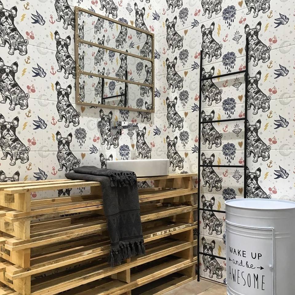 Carrelage Mural Decor Animal Bulldog Pop Montpellier B53 Vente De