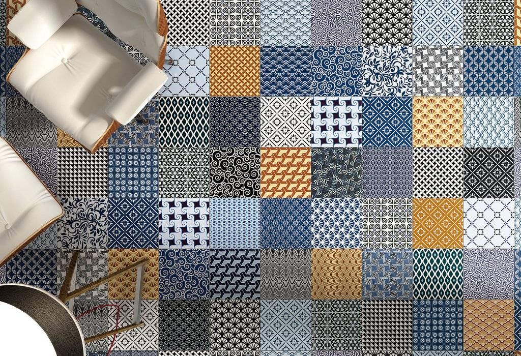 Carrelage Imitation Ciment Patchwork Montpellier C10