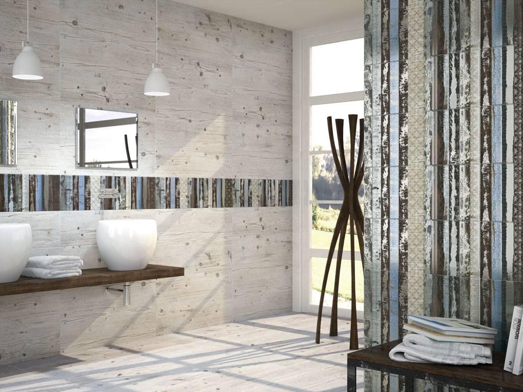 Carreaux imitation planche de bois brut salle de bain d16 for Salle de bain bois brut