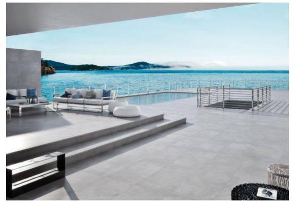 carrelage beton mat grand format piscine nimes 30