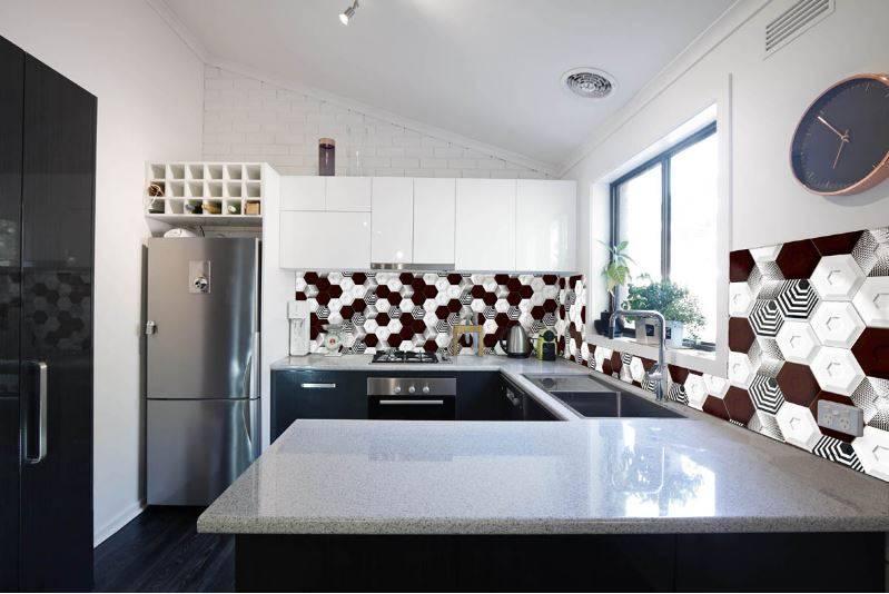 Faiences 3d noir et blanc cuisine et salle de bains for Cuisine et salle de bain 3d