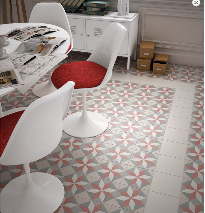 CARRELAGE IMITATION CIMENT ROSE DES VENTS PATCHWORK MONTPELLIER C13 - Vente de carrelage ...