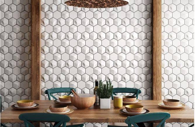 CARRELAGE HEXAGONAL D MOTIF DIAMANT CUBIQUE MONTPELLIER HÉRAULT A - Carrelage hexagonal blanc