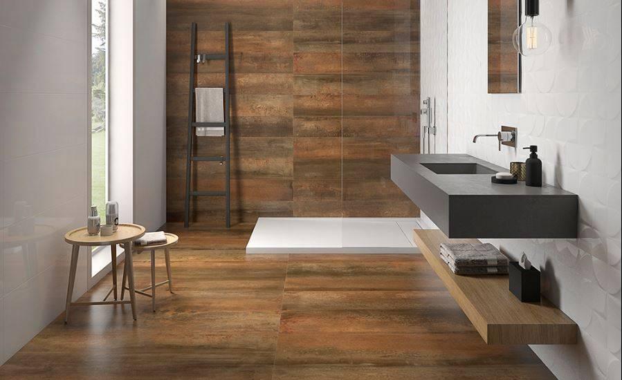 carrelage sol et faiences metal rouille grand format. Black Bedroom Furniture Sets. Home Design Ideas