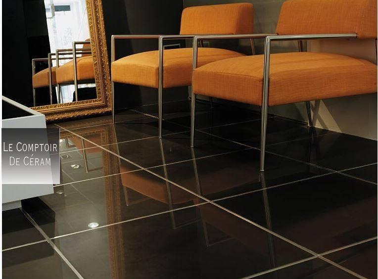 Carrelage Poli Brillant Noir.Carrelage Sol Effet Miroir Noir Gris Ou Blanc Format Xxl 60