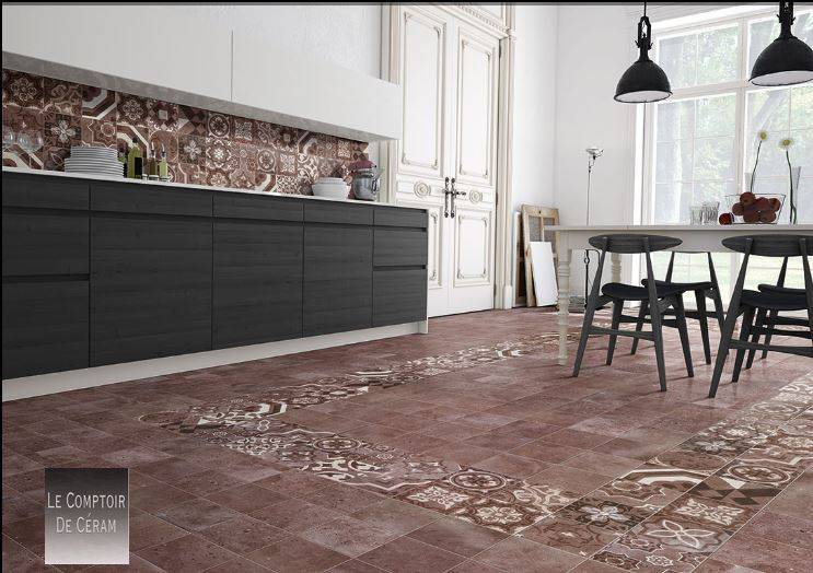 carrelage terrazzo carreaux de ciment bordeaux lie de vin 20 x 20 cm jacou c51 vente de. Black Bedroom Furniture Sets. Home Design Ideas