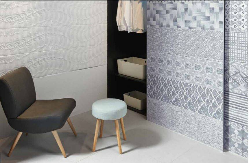 carrelage mural aspect tissus bleu jean 39 s grand format jacou b44 vente de carrelage imitation. Black Bedroom Furniture Sets. Home Design Ideas