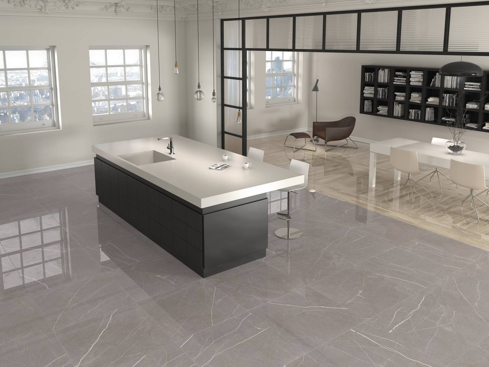 Carrelage Terrazzo Aspect Marbre Effet Miroir Design E32 Vente De