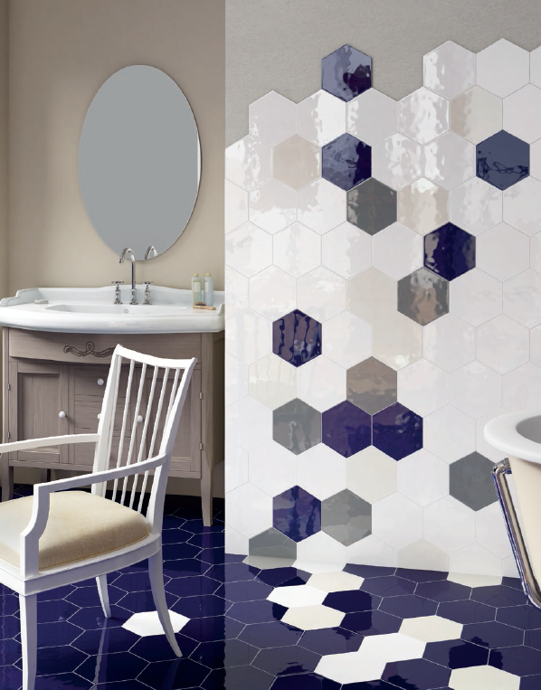 Carrelage hexagonal mural montpellier b23 vente de for Carrelage hexagonal marbre