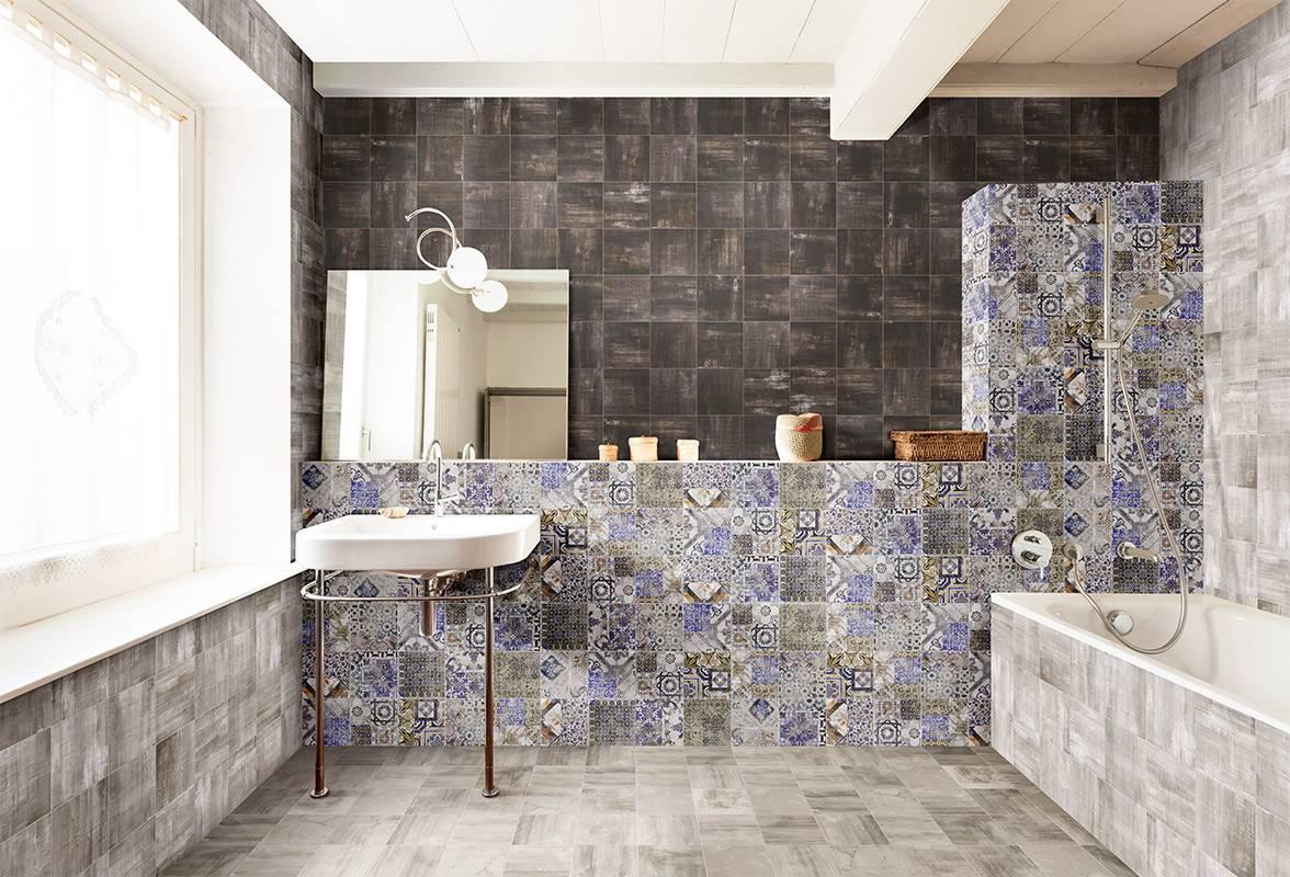 Carrelage mural azulejos imitation carreaux de ciment for Carrelage mural imitation carreaux de ciment