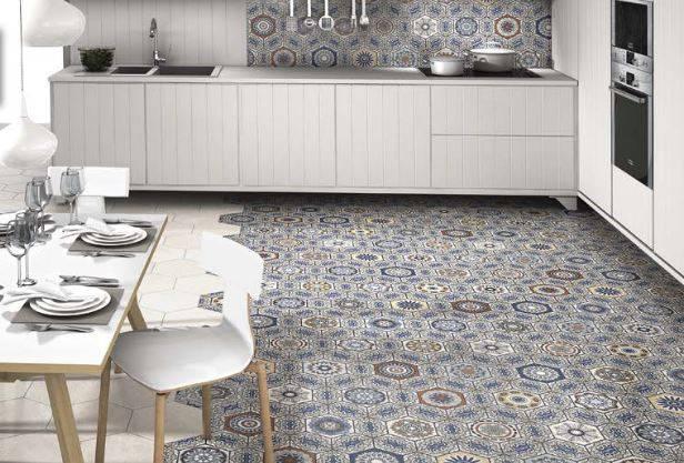 Carrelage hexagonal mandala jacou c39 vente de carrelage for Le comptoir toulousain du carrelage