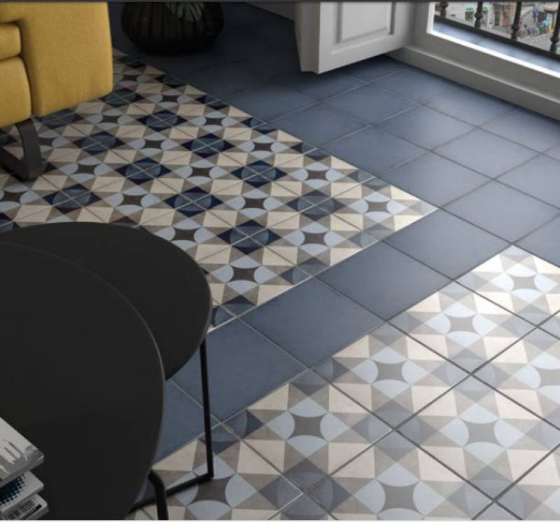 carrelage style carreaux de ciment couleur gris 20 x 20 cm jacou c51 vente de carrelage. Black Bedroom Furniture Sets. Home Design Ideas