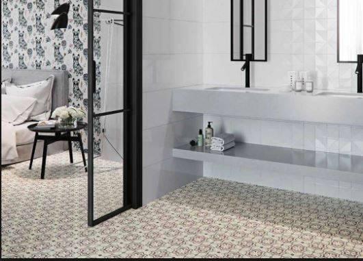 a la faveur de l automne le rose poudr l honneur vente de carrelage imitation ciment et. Black Bedroom Furniture Sets. Home Design Ideas
