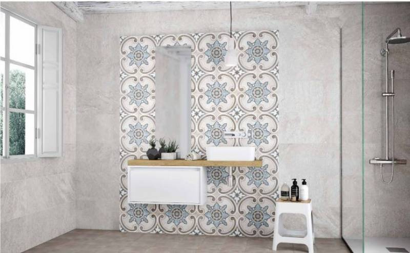 carreau ciment mural carreaux de ciment mural carrelage aspect carreau ciment nivault with. Black Bedroom Furniture Sets. Home Design Ideas